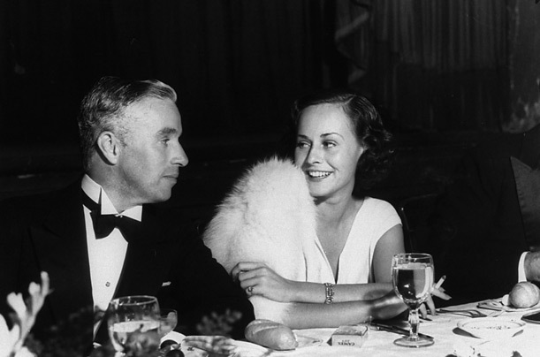 Chaplin and actress Paulette Goddard
