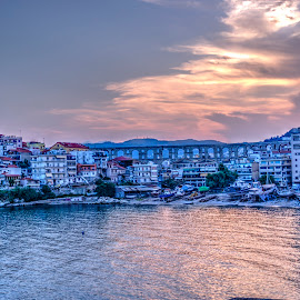 Kavala by Stratos Lales - City,  Street & Park  Historic Districts ( aquaduct, kavala, arc, roman, peninsula )