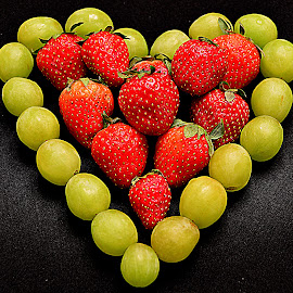 Heart of fruits. by Andrew Piekut - Food & Drink Fruits & Vegetables