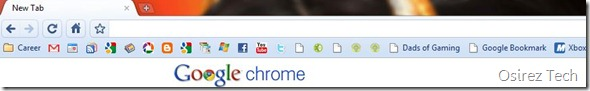 Bookmark Toolbar in Chrome