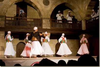 The Sufi troupe Tannoura gives free concerts in Islamic Cairo. It was incredible.