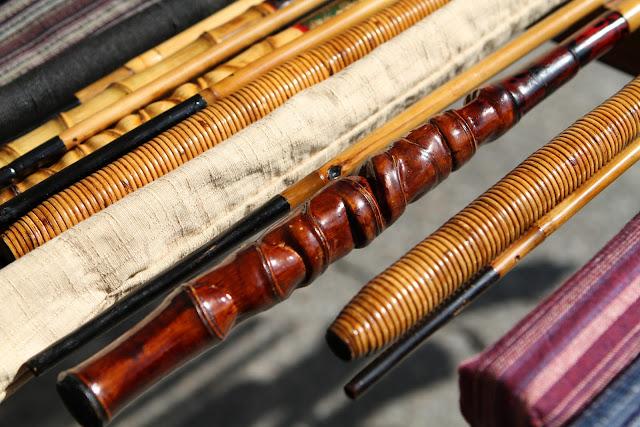 Tenkara bamboo rod handles