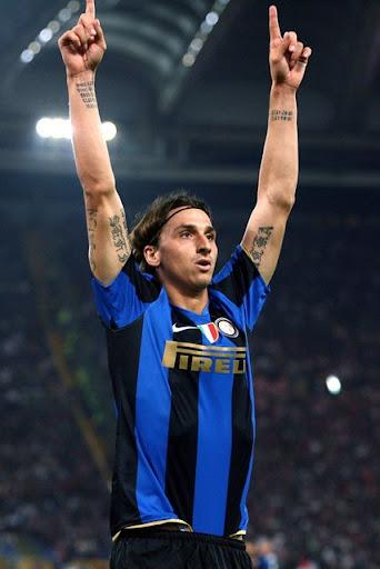 Zlatan Ibrahimovic (Inter Mailand) - Torjubel - PUBLICATIONxNOTxINxITA;