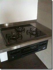 自然素材の家 キッチンコンロ