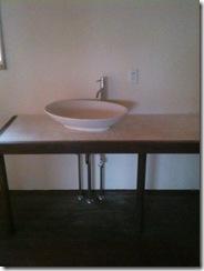 自然素材の家 洗面