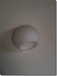 自然素材の家 キッチン照明