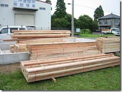 土壁の家 材木