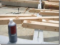 土壁の家 土台設置