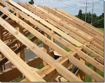 土壁の家 垂木