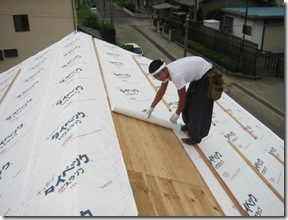 土壁の家 防水紙