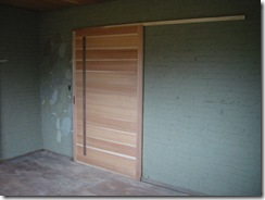 土壁の家 引き戸