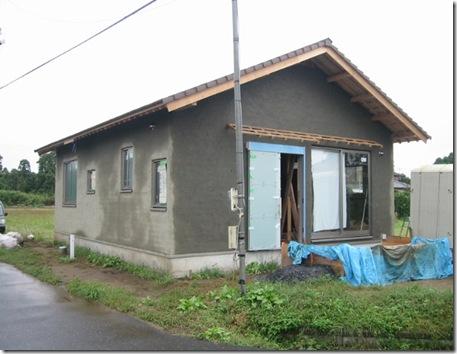 土壁の家 荒壁終了
