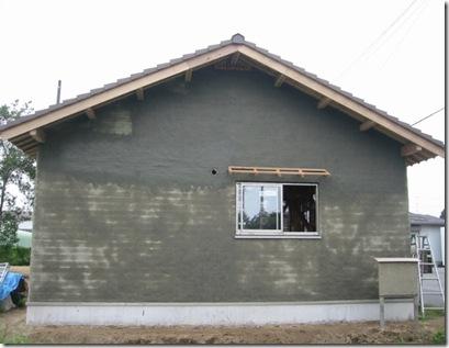 土壁の家 北側終了