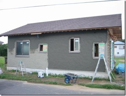 土壁の家 西側終了