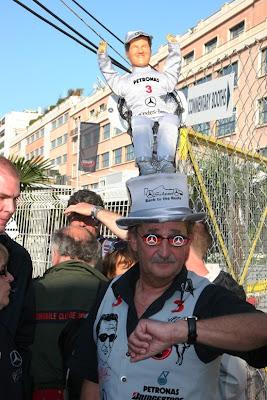 болельщик Михаэля Шумахера на Гран-при Монако 2010