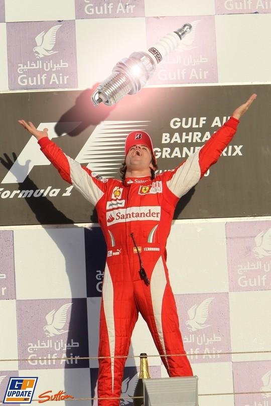 Фернандо Алонсо первый на Гран-при Бахрейна
