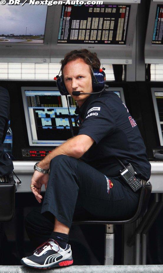 Кристиан Хорнер на командном мостике Red Bull