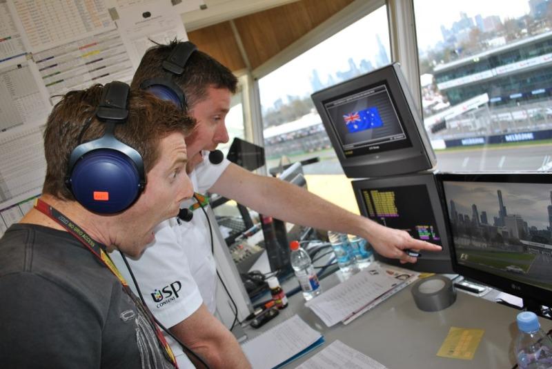 в комментаторской кабинке USP Content на Гран-при Австралии 2010