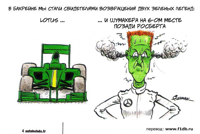 Lotus Михаэль Шумахер Бахрейн Fiszman