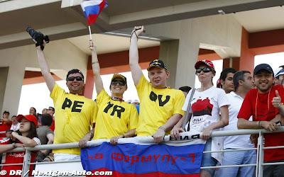 болельщики Виталия Петрова на Гран-при Турции 2010