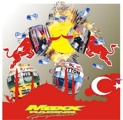 битва Red Bull на Гран-при Турции 2010