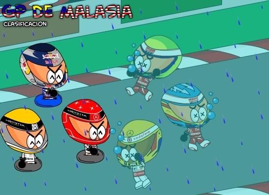 дождевая квалификация на Гран-при Малайзии 2010