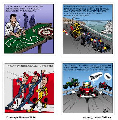 комикс по Гран-при Монако 2010 от команды Renault Cirebox