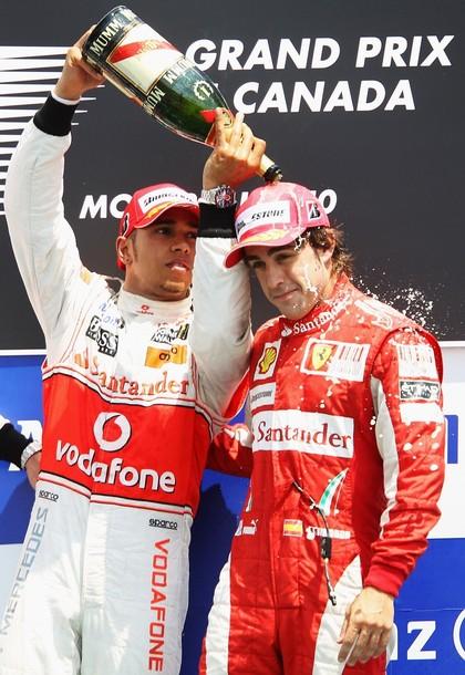 Льюис Хэмилтон и Фернандо Алонсо - подиум на Гран-при Канады 2010