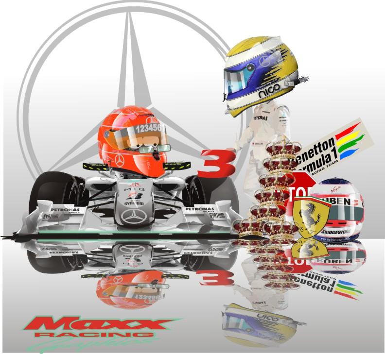 Михаэль Шумахер и Нико Росберг Mercedes GP