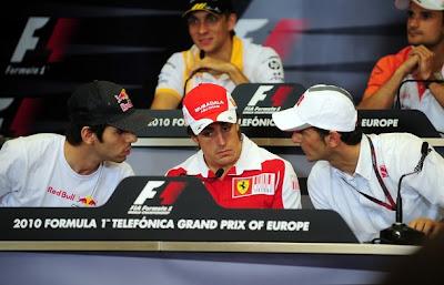пресс-конференция в четверг на Гран-при Европы 2010