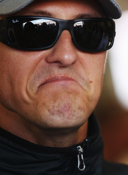 Михаэль Шумахер на Гран-при Великобритании 2010