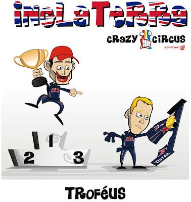 Марк Уэббер и Себастьян Феттель Crazy Circus
