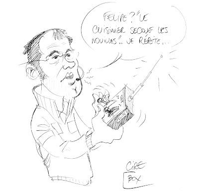 Стефано Доменикали разговаривает по радио с Фелипой Массой на Гран-при Германии 2010