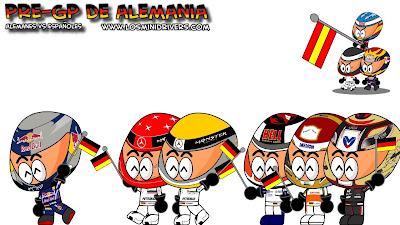 Германия против Испании на Гран-при Германии 2010