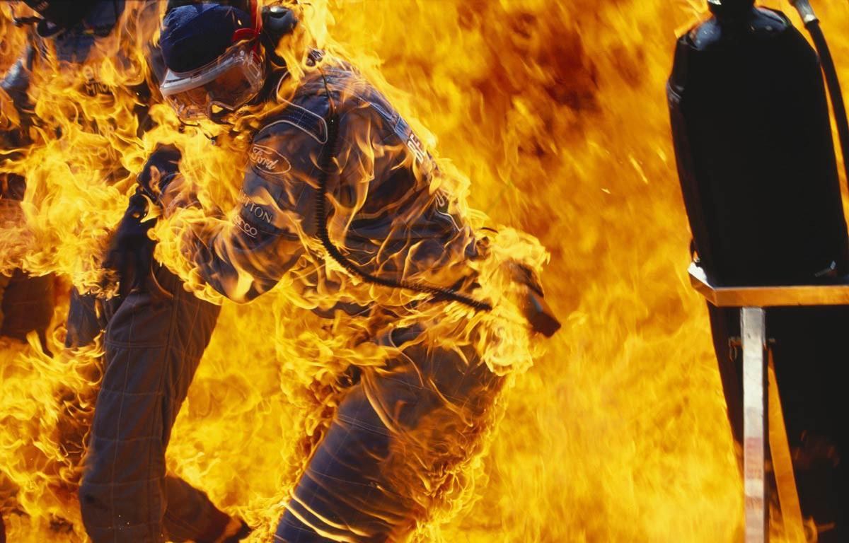 Йос Ферстаппен Benetton пожар на Гран-при Германии 1994
