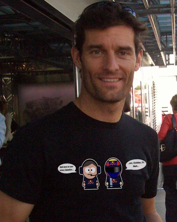 Марк Уэббер в футболке