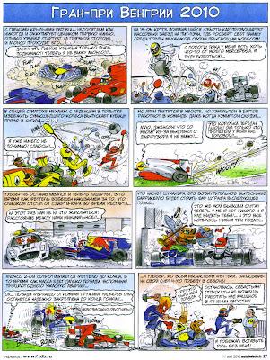 комикс Fiszman по Гран-при Венгрии 2010