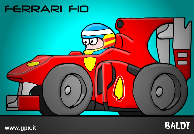 болид 2010 Ferrari F10