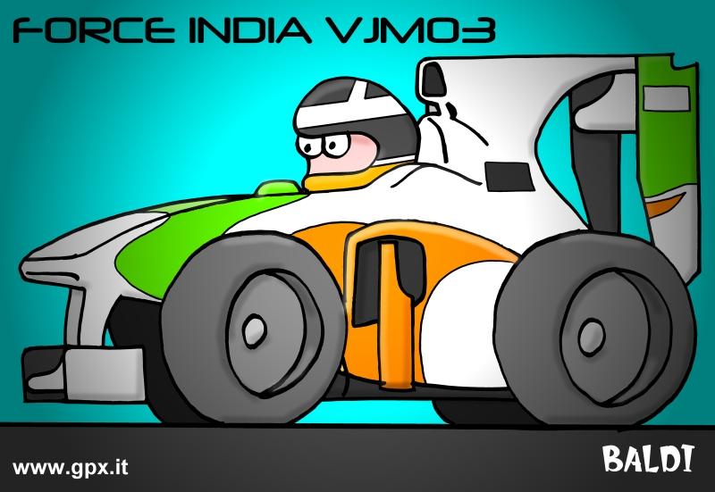 болид 2010 Force India VJM03