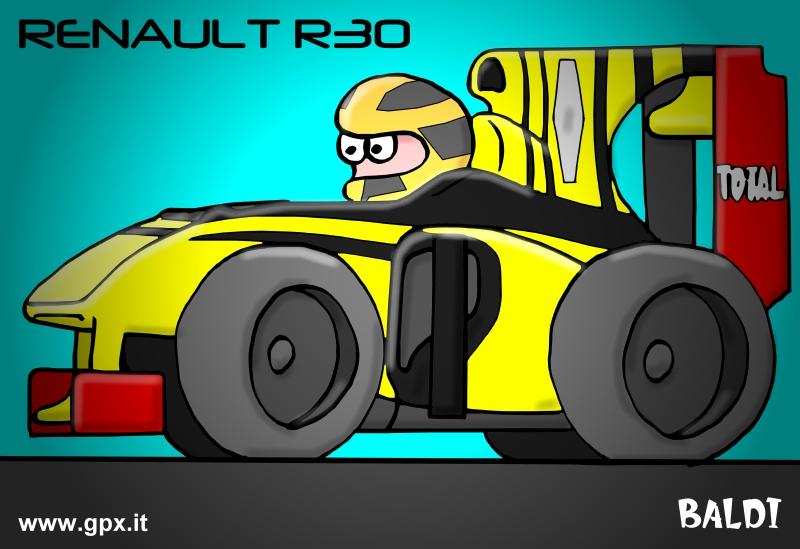 болид 2010 Renault R30