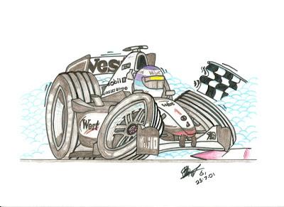 рисунок Мика Хаккинен McLaren