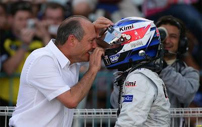 Кими Райкконен и Рон Деннис на Гран-при Японии 2005