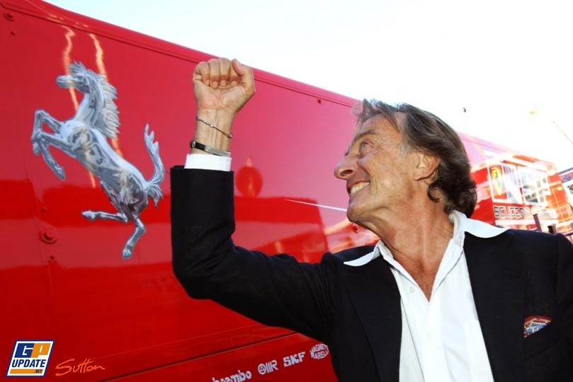 Лука ди Монтедземоло празднует победу Ferrari на Гран-при Италии 2010
