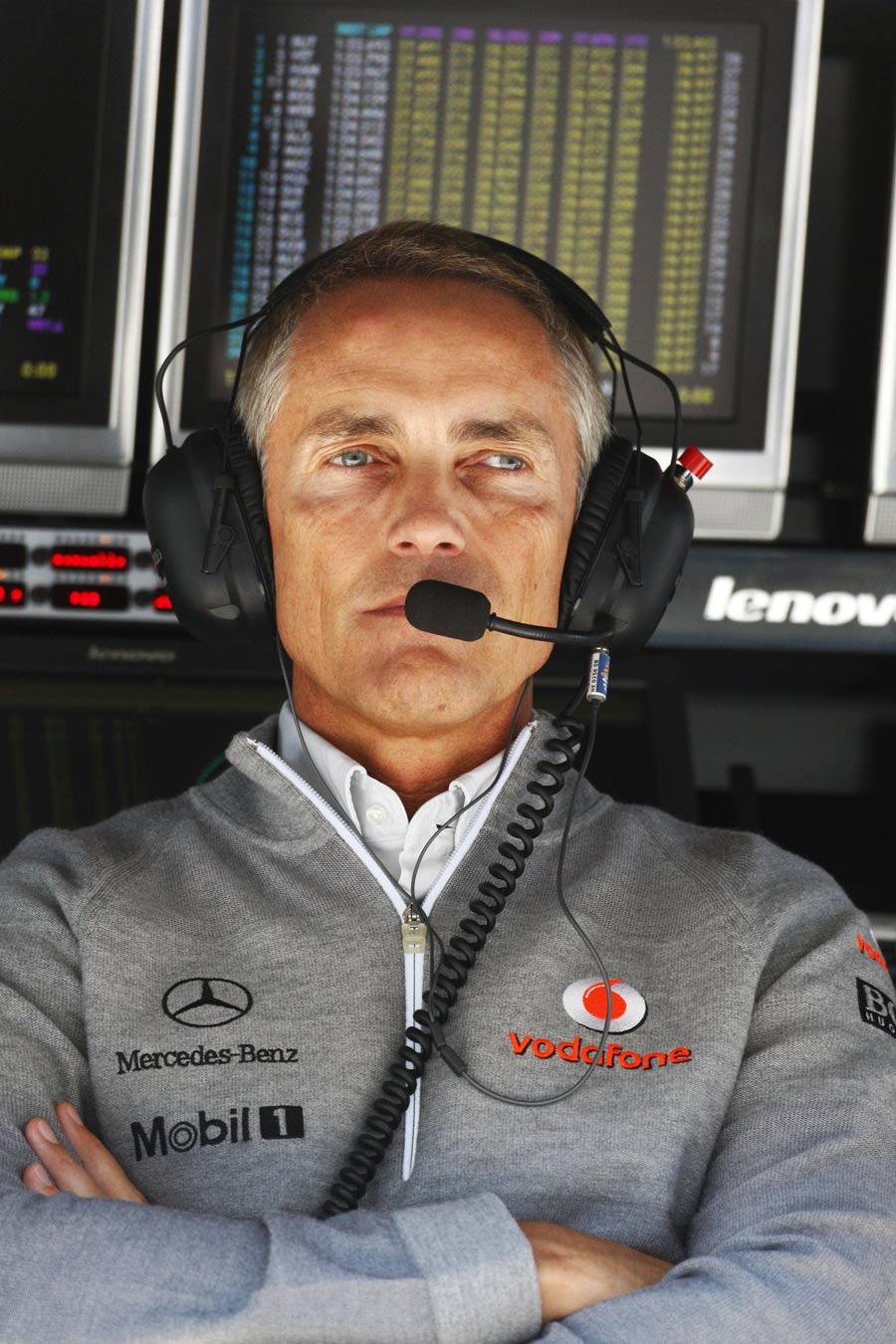 Мартин Уитмарш на командном мостике Гран-при Италии 2010
