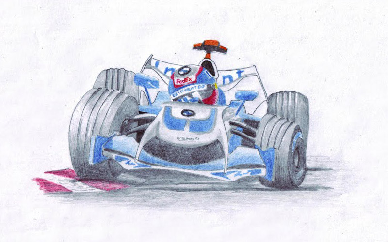 карикатура Хуан Пабло Монтойя Williams