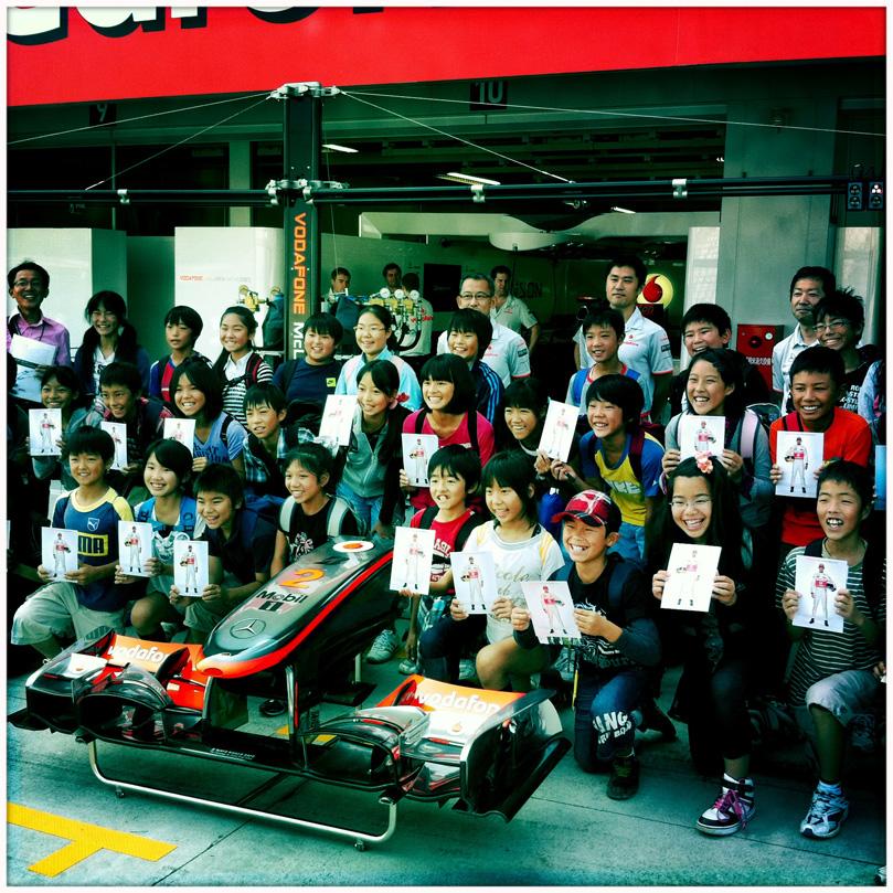 болельщики McLaren на Гран-при Японии 2010