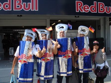 болельщики Red Bull и Toro Rosso на Гран-при Японии 2010