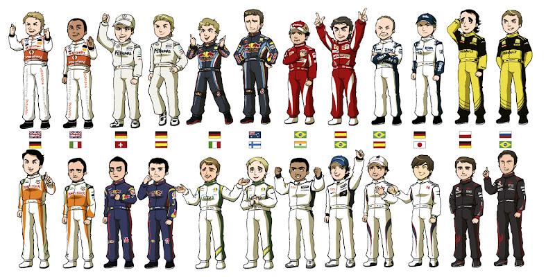 составы команд Формулы-1 на сезон 2010