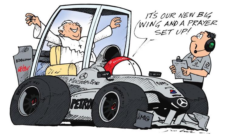 Михаэль Шумахер Mercedes GP комикс Jim Bamber