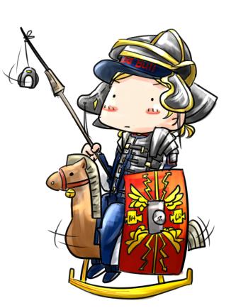 рыцарь Кими Райкконен с копьем аниме